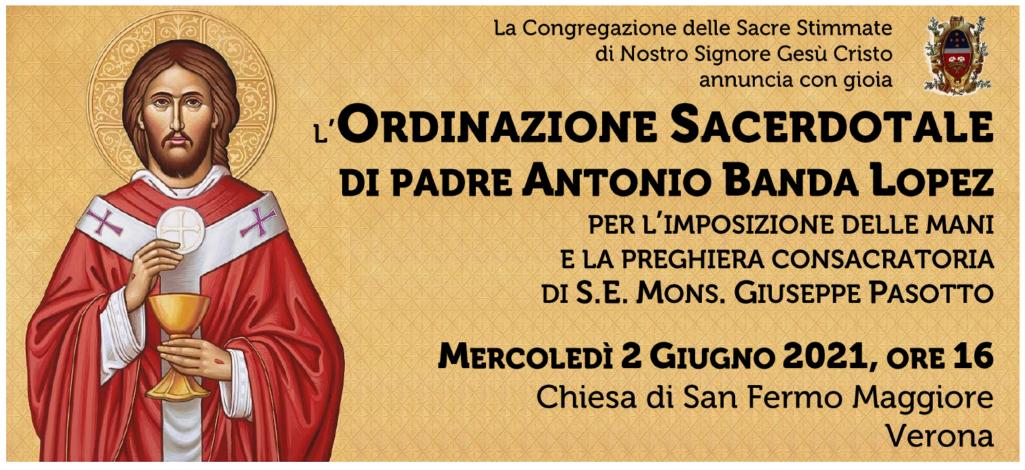 Ordinazione sacerdotale di padre Antonio Banda Lopez